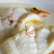 Papillotes de filets de turbot à la sauce champagne (pour 4 personnes)